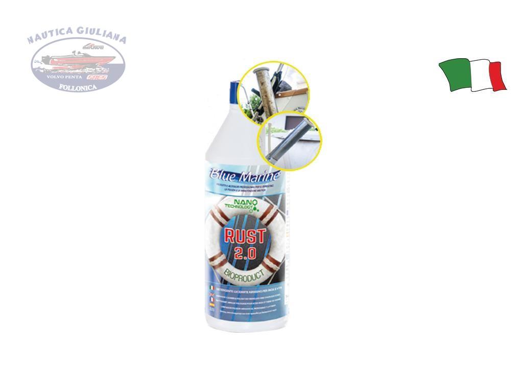 DETERGENTE ACCIAO INOX E VETRORESINA RUST 2.0 BLUE MARINE